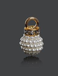 Beadia 12x20mm ABS Imatation Pearl Charm Pendant (10Pcs)
