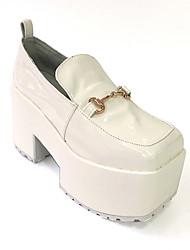 Chaussures Punk Lolita Talon haut Chaussures Couleur Pleine 8 CM Blanc Pour Femme Cuir / Métal