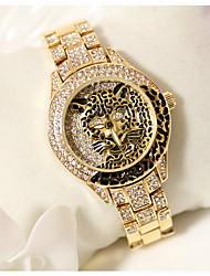 Women's Luxury Sparkle Leopard Stainless Steel Quartz Watch