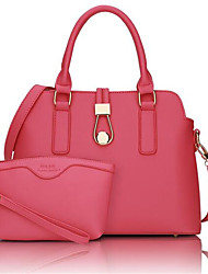 Women PU Casual Shoulder Bag White / Pink / Blue / Red / Black