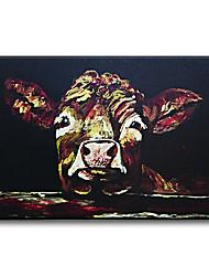 Peint à la main Animal Méditerranéen / Pastoral / Style européen / Modern / Classique / Traditionnel / Réalisme,Un Panneau ToilePeinture