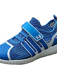 Para Meninos-Tênis-Conforto-Rasteiro-Verde Azul Real-Tule Couro Ecológico-Ar-Livre Casual Para Esporte