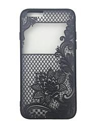 Body collant Pare-chocs / Translucide Impression de dentelle PC Dur Skeleton,Lacework Couverture de cas pour AppleiPhone 6s Plus/6 Plus /