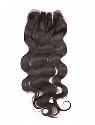 Natural Black U Part Body Wave Human Hair Closure Light Brown Chinese Lace gram Average Cap Size