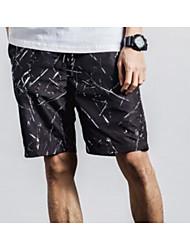 Men's Striped Shorts,Nylon Black