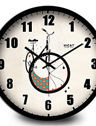 Simple Bike Room Office Wall Clock