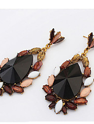 Long Section Of Bohemia Fish Teardrop-shaped Chocolate Color Dress Accessories Earrings