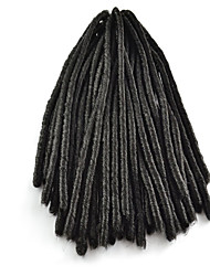 Black / #1B Crochet Dread Locks Hair Extensions 18 Kanekalon 2 Strand 100 gram Hair Braids