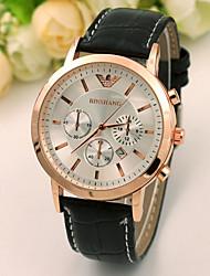 moda relógio simples correia do homem