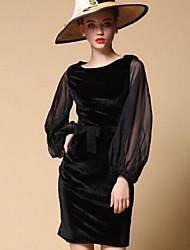 Pour My Fair Lady® Femme Bateau Manche Longues Au dessus des genoux Robes-1501082