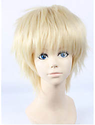 Angelaicos Men Haikyuu Tsukishima Kei Boys Layered Short Blonde Anime Cosplay Halloween Cocstume Party Full Wigs