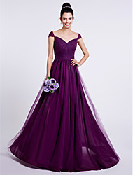 LAN TING BRIDE Sweep / Brush Train Sweetheart Bridesmaid Dress - Open Back Sleeveless Tulle