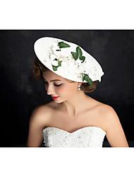 Damen Spitzen / Perle / Strass / Flachs Kopfschmuck-Besondere Anlässe Kopfschmuck 1 Stück Klar / Beige Unregelmässig 25