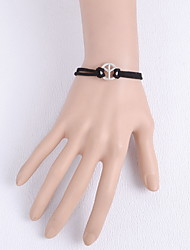 Bracelet Bracelets Wrap / Bracelets en cuir Tissu Others Mode / Ajustable Quotidien Bijoux Cadeau Noir et Blanc,1pc
