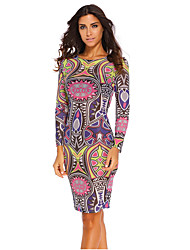Women's Tribal Print Multi Colour Pencil Dress