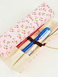 Floral Canvas Rolls Stationery Bag