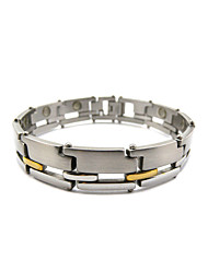 Free Shipping Christmas Gift Fashion Jewelry Healing Magnetic Stainless Steel Bracelet For Men Or Women 8.5""