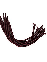 Ebony Dreadlocks Kanekalon Twist Hair Braids Africa Soft Dread Lock Synthetic Hair Extensions