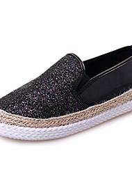 pu trepadeiras plataforma sapatos sapatos femininos outdoor / trabalho&dever / ocasional preto / rosa / prata / ouro