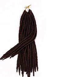 #30 Гавана / Вязаные дредлоки Наращивание волос 14 18 inch Kanekalon 24 нитка 115-125 грамм косы волос