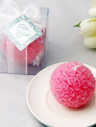 Recipient Gifts - 1Box/Set - Bridesmaids Pink Rose Ball Candles Favors (6.5 x 6.5 x 6.5 cm/box) Cake Decorating