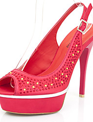 Women's Shoes  Summer Heels / Peep Toe / Platform / Slingback Sandals  / Dress / Casual Stiletto Heel Sparkling Glitter