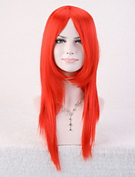 Capless Red Color High Quality Natural Straight Synthetic Wig