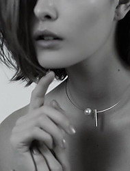 Femme Collier court /Ras-du-cou Tattoo Choker Forme de Cercle Perle Coquillage Alliage Tatouage Mode Simple Style bijoux de fantaisie
