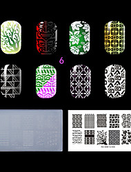 1PC Plastic Clear White Environmental  Nail Stamping Template with Lastest Style (KD-SM612-006)