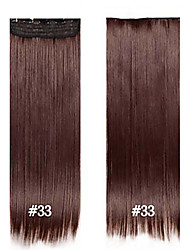 Synthetic Clip in Hair Extensions Fiber Straight Hair 24inch #33 60cm 120g 5 clips Synthetic Long Wowan Hair Clip in