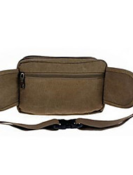 Men PVC Formal Waist Bag Green / Khaki