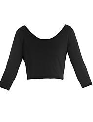 Damen Solide Sexy / Einfach Lässig/Alltäglich T-shirt Sommer ¾-Arm Schwarz Polyester Dünn