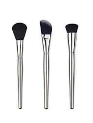 3 Conjuntos de pincel / Pincel para Blush / Pincel para Corretivo / Pincel para Pó / Pincel para Base / Contour Pincel Escova de Nailom