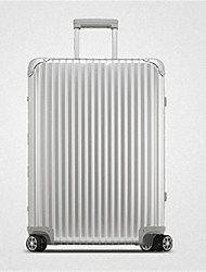 Unisex-Outdoor-PVC-Luggage-Rose Gold/ Silver