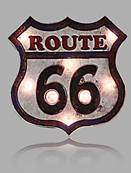 E-HOME® Metal Wall Art LED Wall Decor,Route 66 LED Wall Decor One PCS