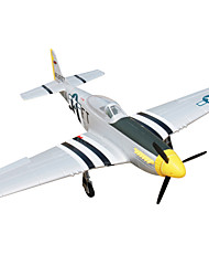 Dynam P51D Mustang 1:8 Brushless Electric 50KM/H RC Airplane 4ch 2.4G EPO Black & White RTF