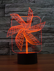 Big Pinwheel  3 D Lamp Originality Touch Desktop Desk Lamp Energy-saving LED Illusion Lamp Color-Changing Night Light
