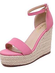 Черный / Розовый-Женская обувь-На каждый день-Полиуретан-На толстом каблуке-На каблуках-Обувь на каблуках