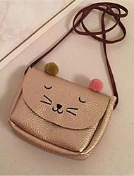 Women PU Formal Shoulder Bag Pink / Gold / Brown