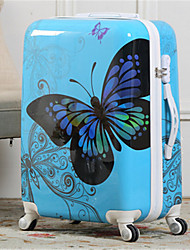Unisex PVC Outdoor Luggage White / Pink / Blue