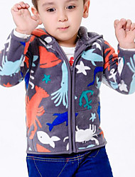 Boy's Cashmere Hoodie & Sweatshirt / Clothing Set,Winter / Fall Animal Print