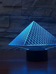 Новый USB 7 цветов изменяя 3D LED ночные огни настольные лампы с изменением цвета свет ночи