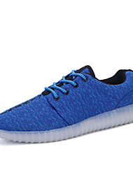 LED Light Up Shoes,Men's luminous shoes USB charging Best Seller Casual Shoes Blue / Green / Red /Gray
