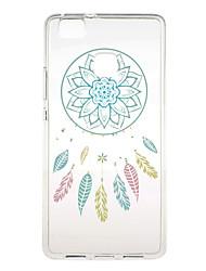 Blue Campanula Pattern TPU Soft Case Phone Case for Huawei Series Model