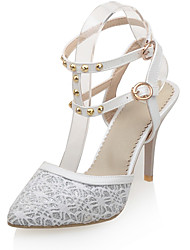 Women's Shoes Stiletto Heel D'Orsay & Two-Piece / Pointed Toe Sandals Dress / Casual White / Beige