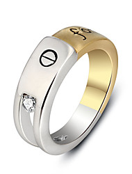 2016 Unisex Double Color Forever Letters Party Ring Trendy Jewelry Rhodium and 18k Gold Plated Rings