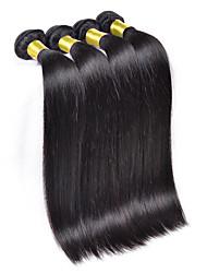 3Bundles/Lot Brazilian Virgin Hair Straight 6A Unprocessed Brazilian Silk Straight Hair Weave Bundles
