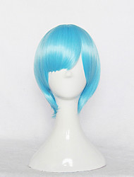 Cosplay Wigs Cosplay Cosplay Blue Short Anime Cosplay Wigs 30 CM Heat Resistant Fiber Female