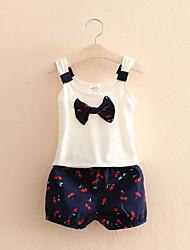 Cherry Children Suit Girls Children'S Clothing New Bow Sling