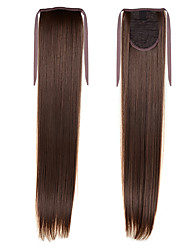 High Quality Drawstring Ponytail 22inch 55cm 100g Cheap  #8 For Beautiful Ladies  Synthetic Straight Tail